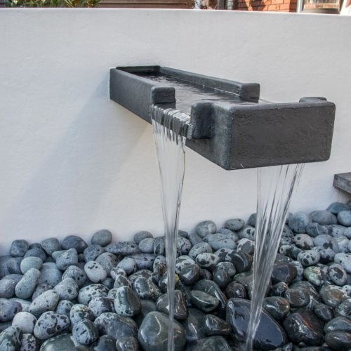POLYESTER WATERVAL TUINMUUR